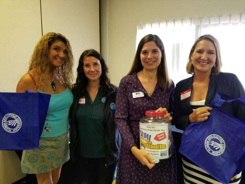 Thanks to FL Keys Electric Coop employees for a fabulous Stuff the Bus kick-off in their workplace!