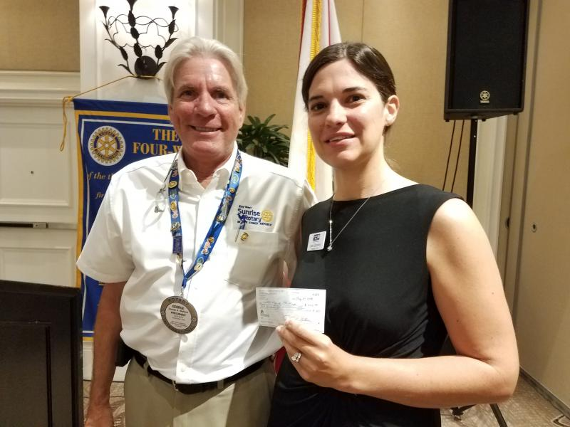 Sunrise Rotary in Key West helps Stuff the Bus.
