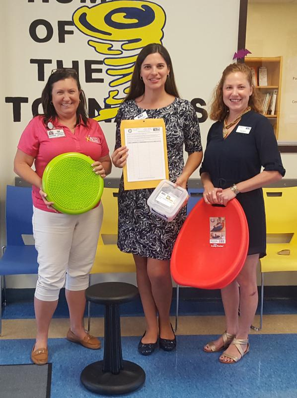 Your donation to Stuff the Bus helped purchase these seats and sensory tools to help students at Key Largo School focus as they learn.