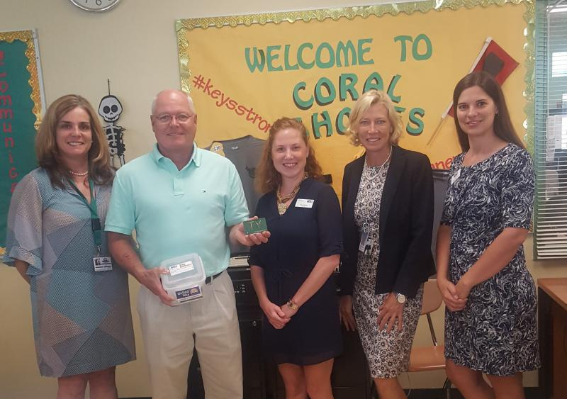 Coral Shores staff are envisioning how donations to Publix's Tools for Back to School  will make a difference for their students this year.