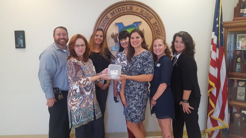Marathon Middle and High school accepts 2018 Publix Tools for Back to School gift cards from the Marathon Publix managers and UWFK.