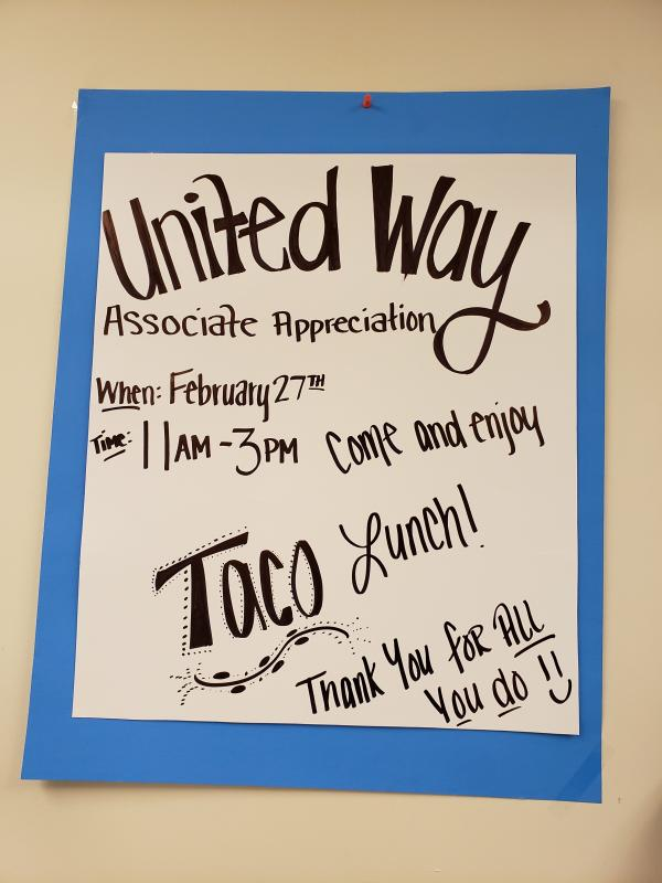 The Islamorada manager organized a taco buffet for her associates on Publix Appreciation Day. What a manager!