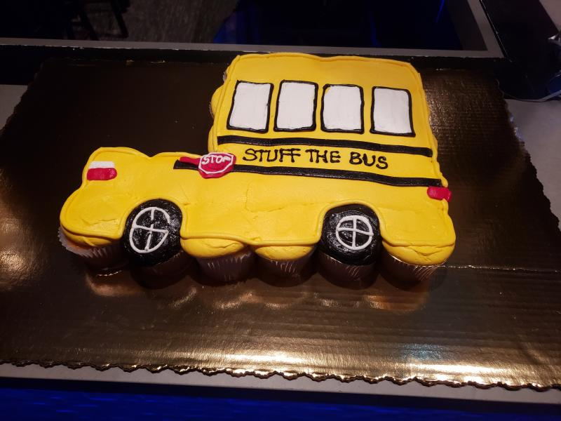 Publix Bakery made a cute cupcake cake for our Lower Keys Stuff the Bus Kick-off Party in Key West.