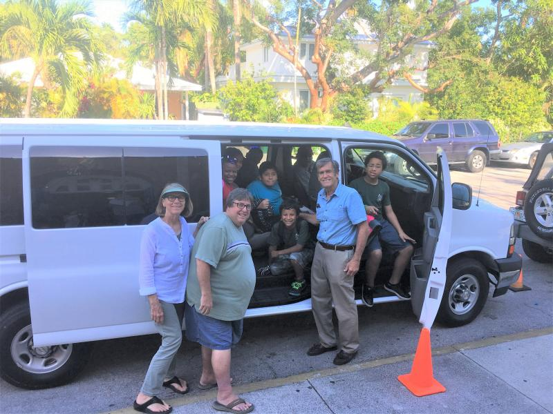 The Boys & Girls Club van was destroyed in Irma, and UWFK was glad to enable the purchase of a new one so children can be safely transported daily.
