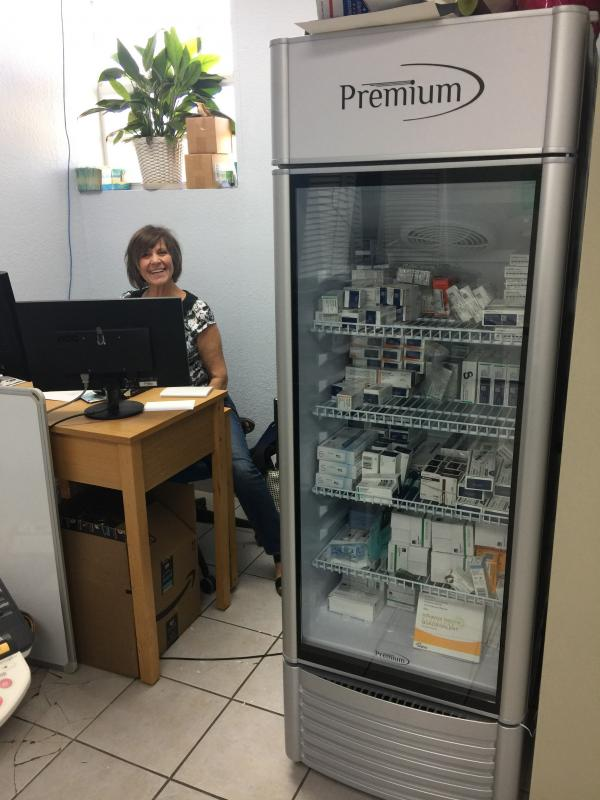 The Good Health Clinic, a low-cost clinic, lost their medicine refrigerator in Irma and hurricane relief funds provided a new one for their cxlients who still did not have electricity to be able to safely store their meds