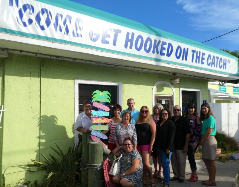 The Catch restaurant hosted Key Largo Chamber Members in Motion to benefit Stuff the Bus.