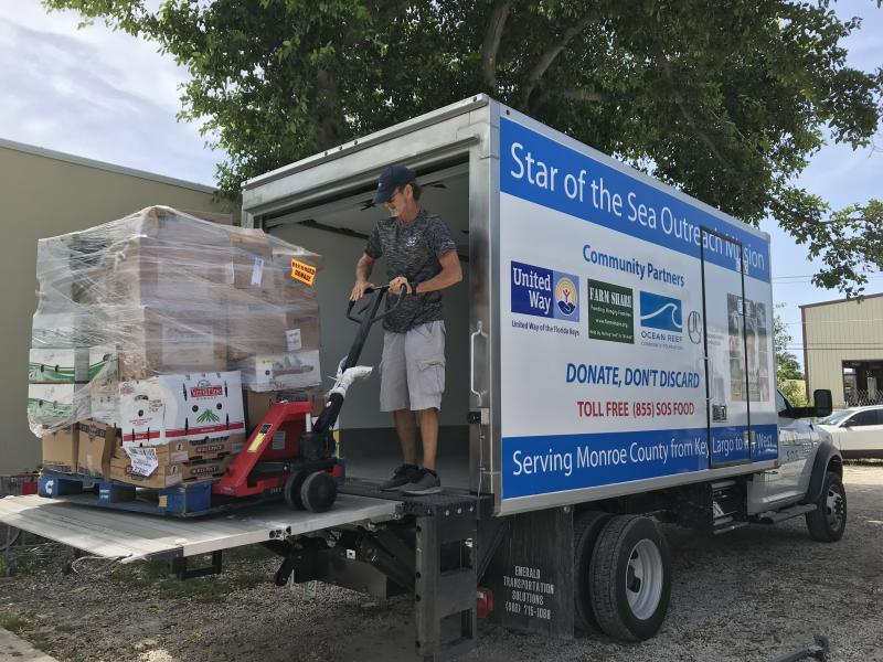 Distributing 2 million pounds of food a year is hard without a proper lift gate, and hurricane funds helped purchase a new one so SOS could continue their extensive food recovery and distribution program.