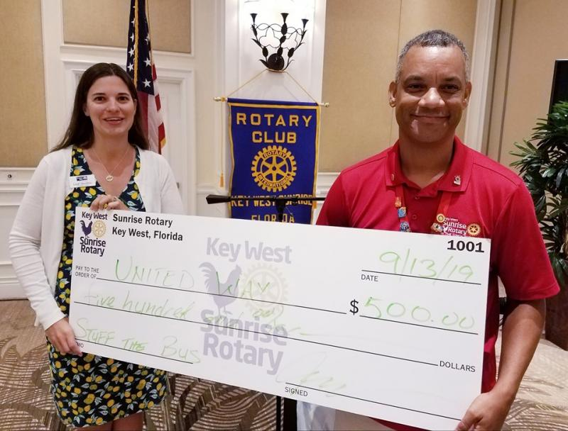 Key West Rotary supported Stuff the Bus and we are thankful for their gift.