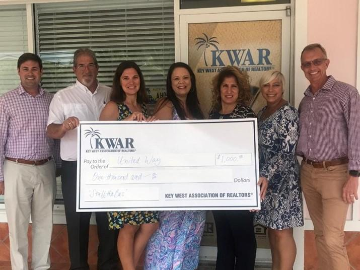 The Key West Board of Realtors made a generous Stuff the Bus donation!