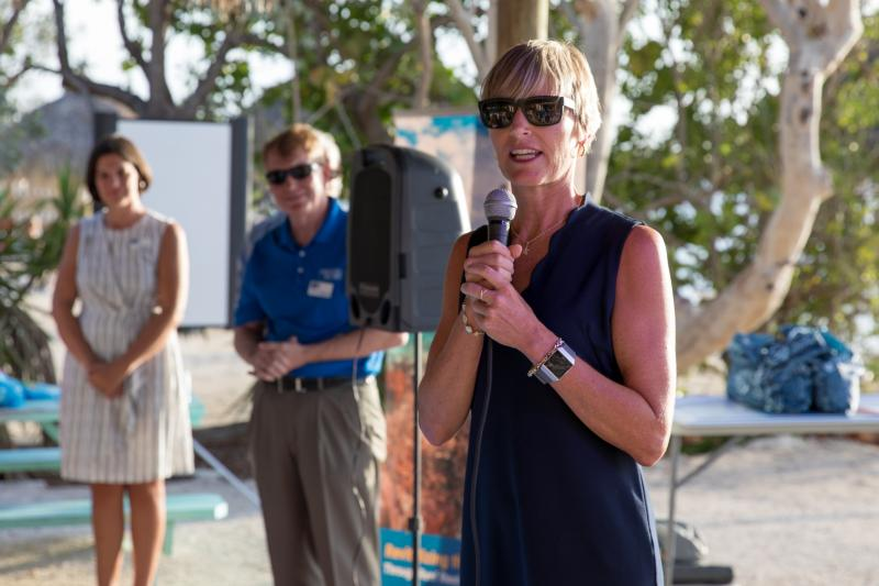 Sarah Fangman, Superintendent of the Florida Keys National Marine Sanctuary, joined the United Way of Collier and the Keys reef restoration funding event on Thursday, May 20. NOAA, UWCK and partners are undertaking a momentous initiative to restore seven significant reefs in the Florida Keys through Mission: Iconic Reefs.